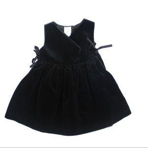 Gap Girls Velvety Black Dress, Size 18-24 M